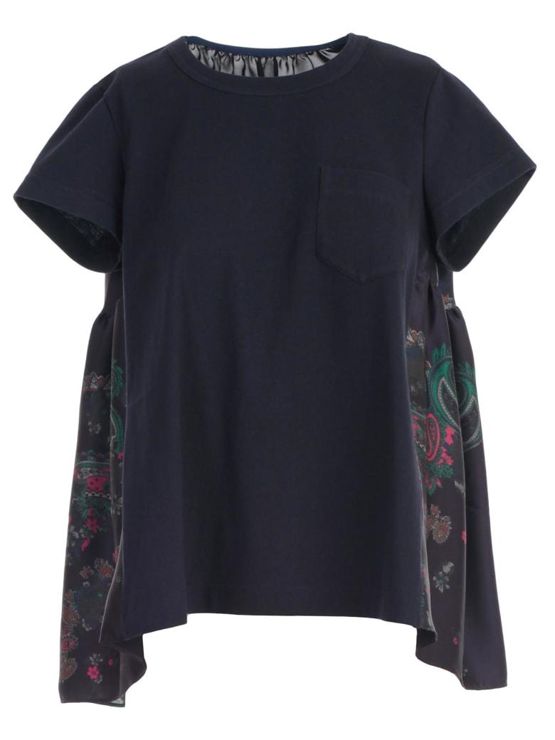 Sacai T-shirt S/s W/pocket - Navy