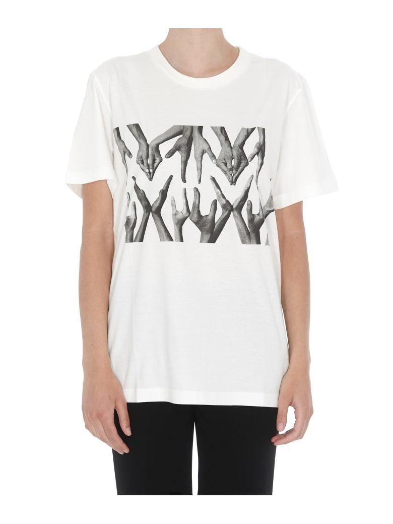 MM6 Maison Margiela T-shirt Logo Hands - White