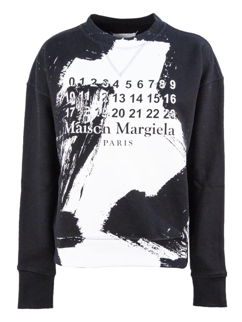 Maison Margiela Black Cotton Sweatshirt - Nero