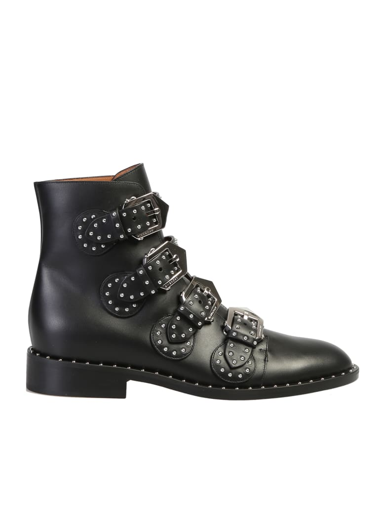 Givenchy Studded Ankle Boots - Black