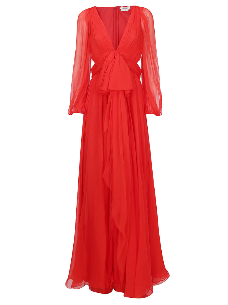 Alexander McQueen Long Dress - Lust red