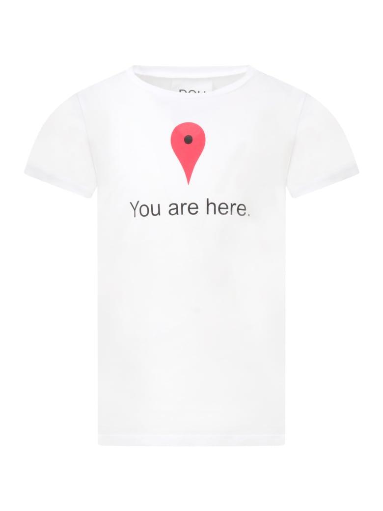 Douuod White T-shirt For Kids - White