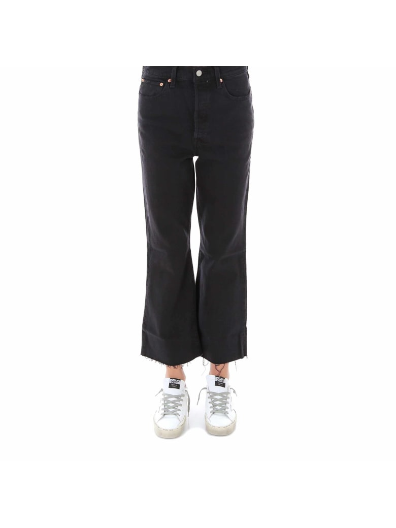 Levi's Ribcage Cropped Flare Jeans - Black