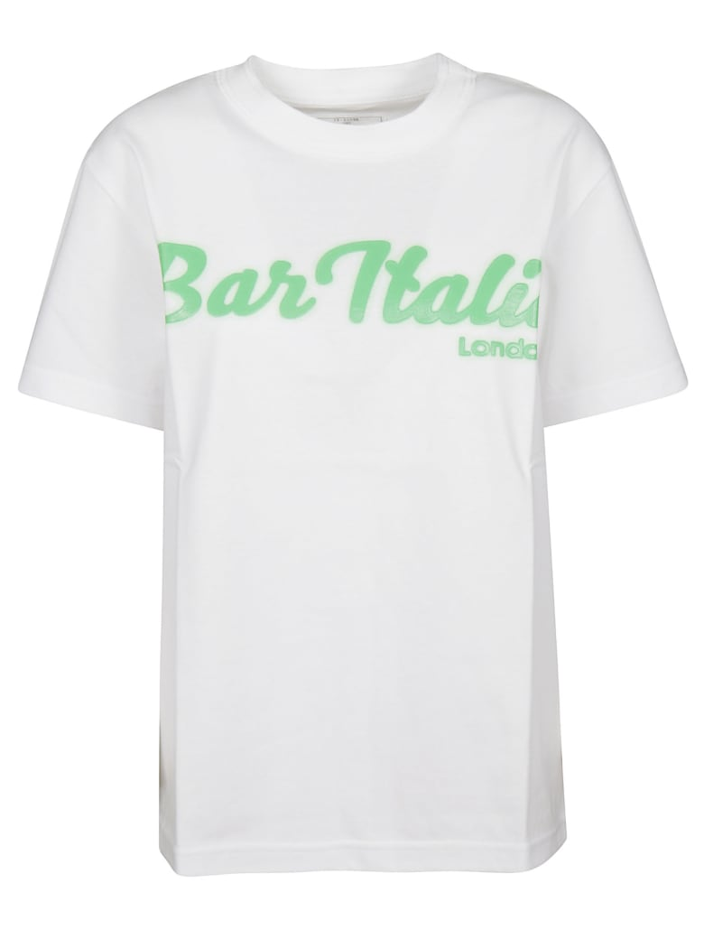 Sacai Printed Cotton T-shirt - White