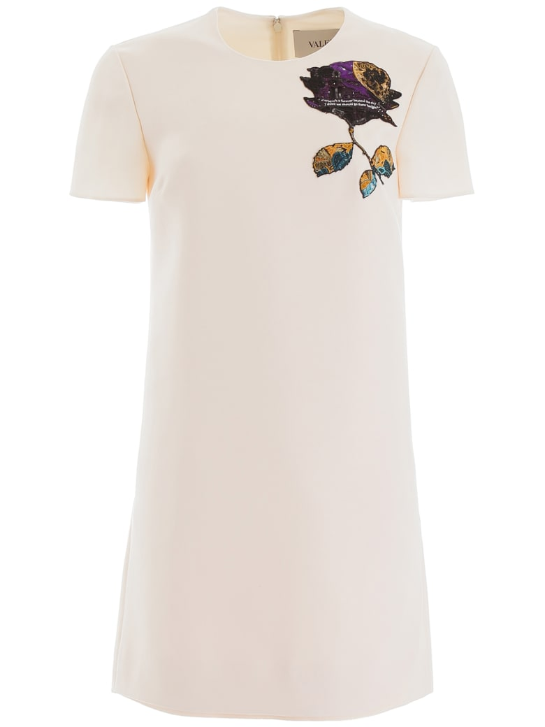 Valentino Cosmos Patch Mini Dress - AVORIO (White)
