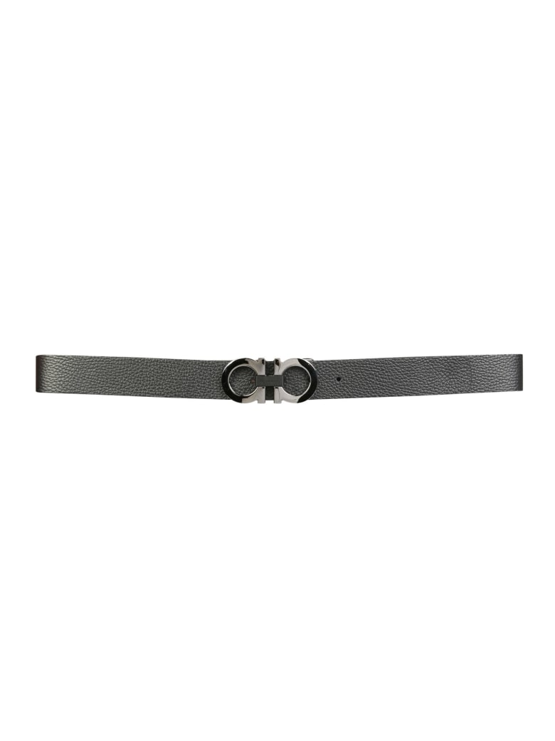 Salvatore Ferragamo Reversible Gancini Belt - NERO
