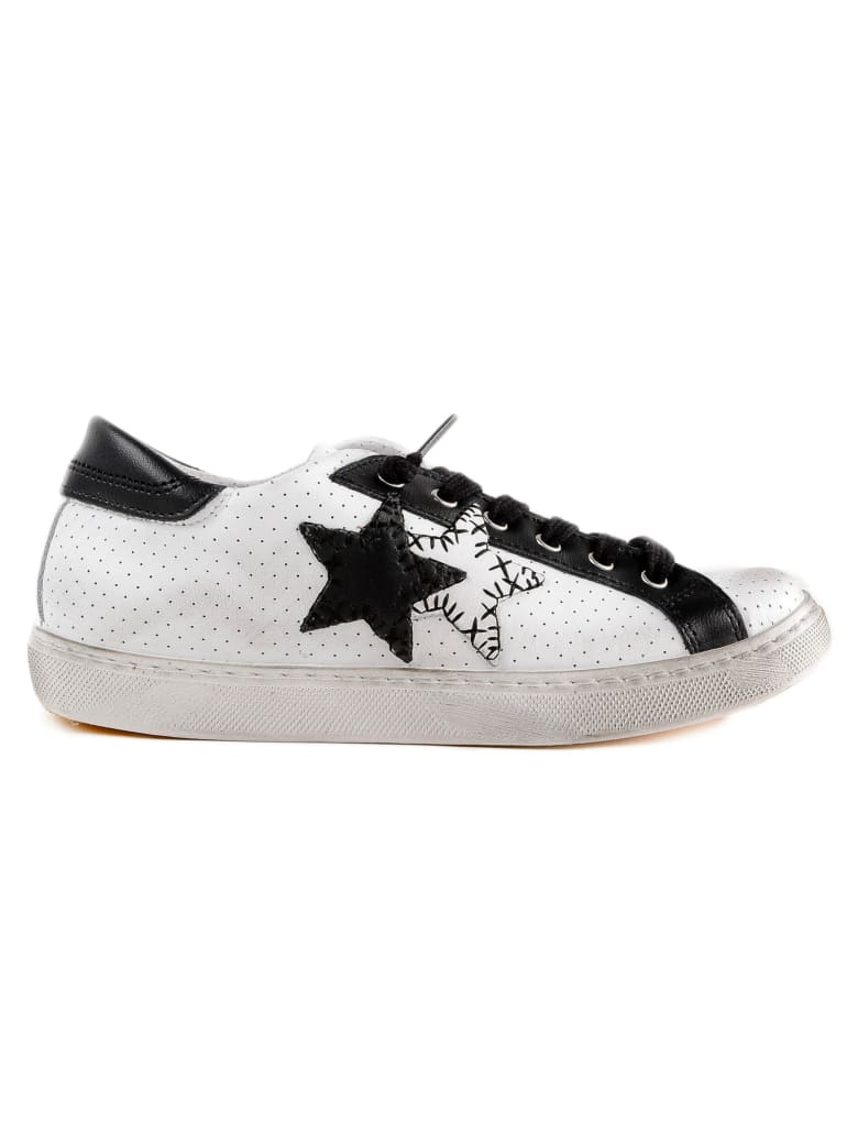 2Star Two Star Patch Sneakers - White/black