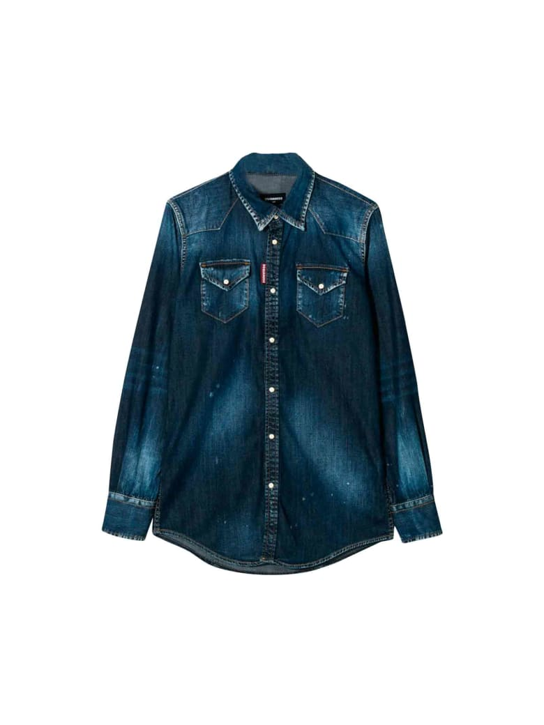 Dsquared2 Dark Denim Shirt Teen - Unica