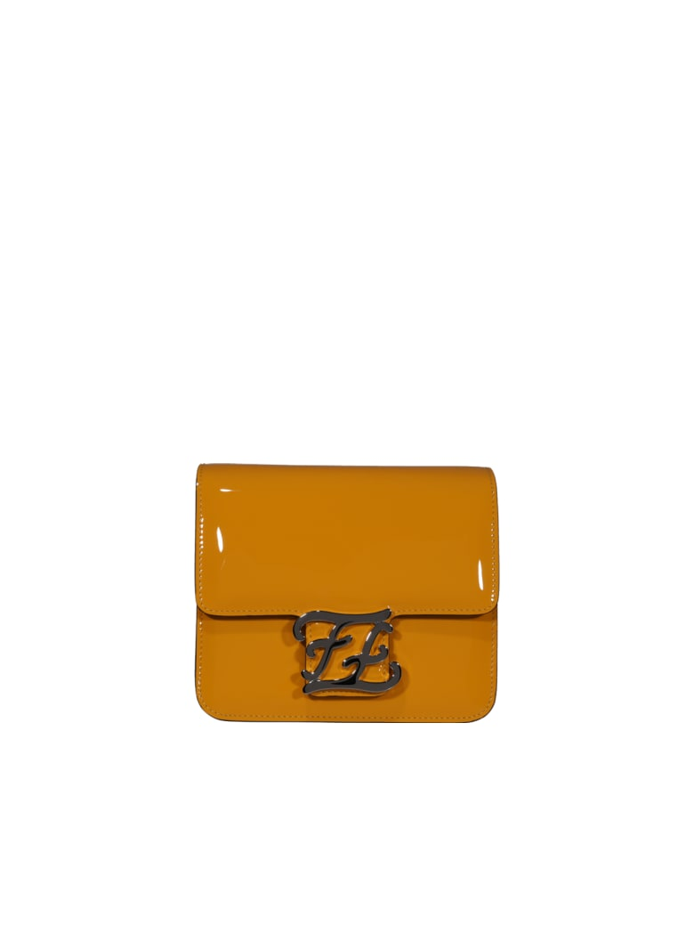 Fendi Ff Karligraphy Bag - Yellow