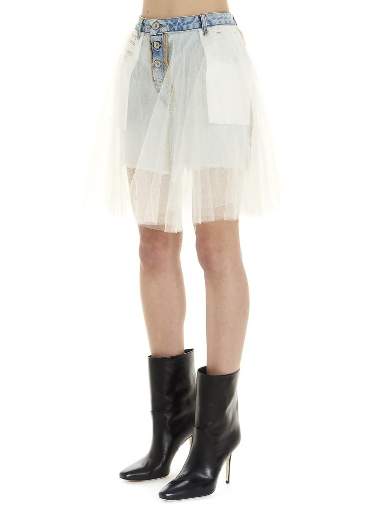 Ben Taverniti Unravel Project Skirt - White