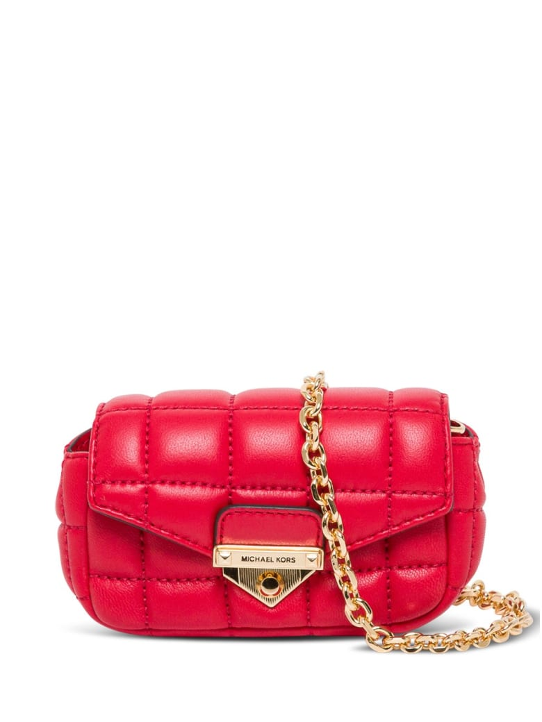 MICHAEL Michael Kors Soho Crossbody Bag In Quilted Leather - Red