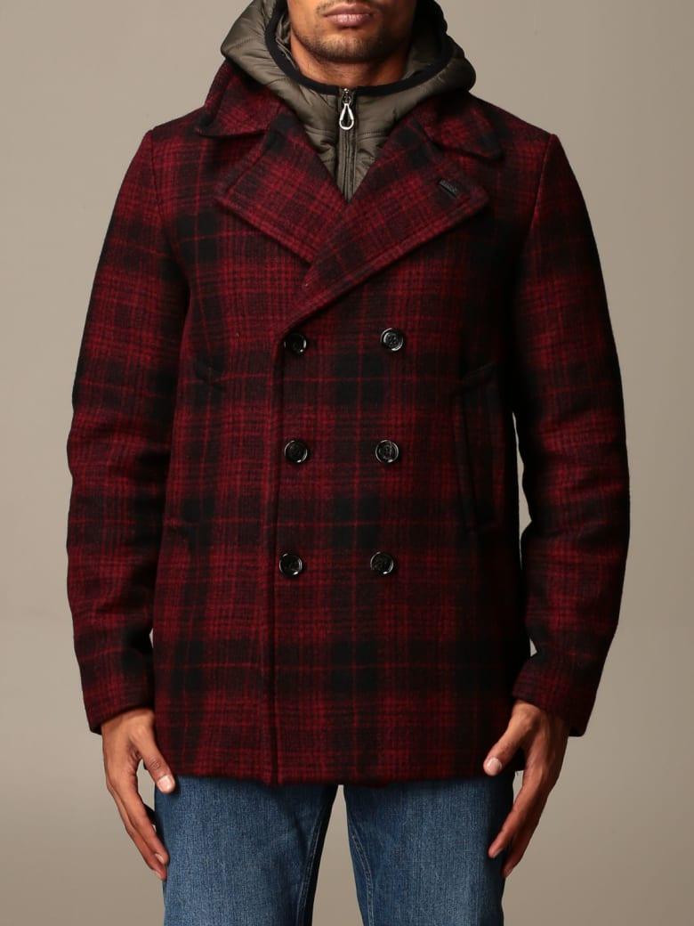 Paltò Palto' Jacket Enea Paltò Double-breasted Check Coat - Red