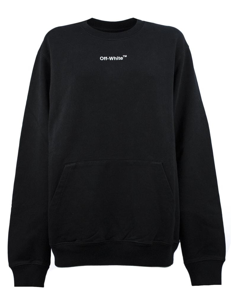 Off-White Sweatshirt In Black Cotton - Blackwhite