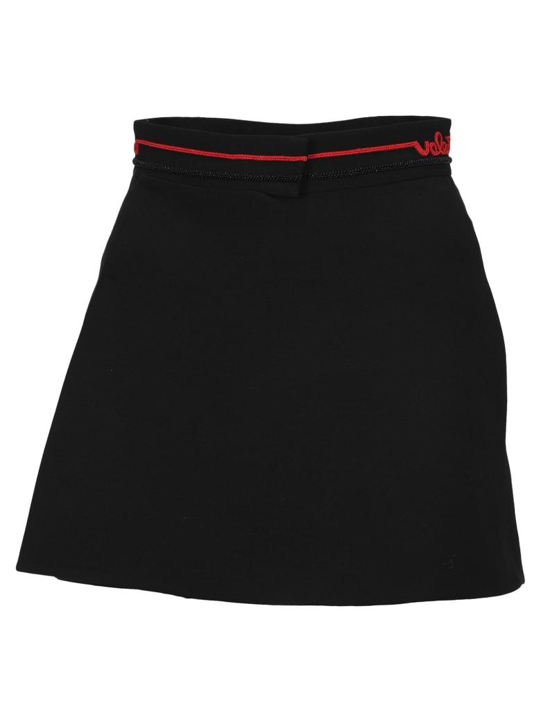 Valentino Beaded Logo Shorts - BLACK