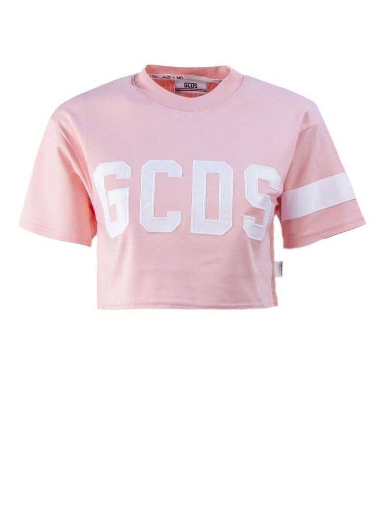 GCDS Pink Cotton T-shirt - Rosa