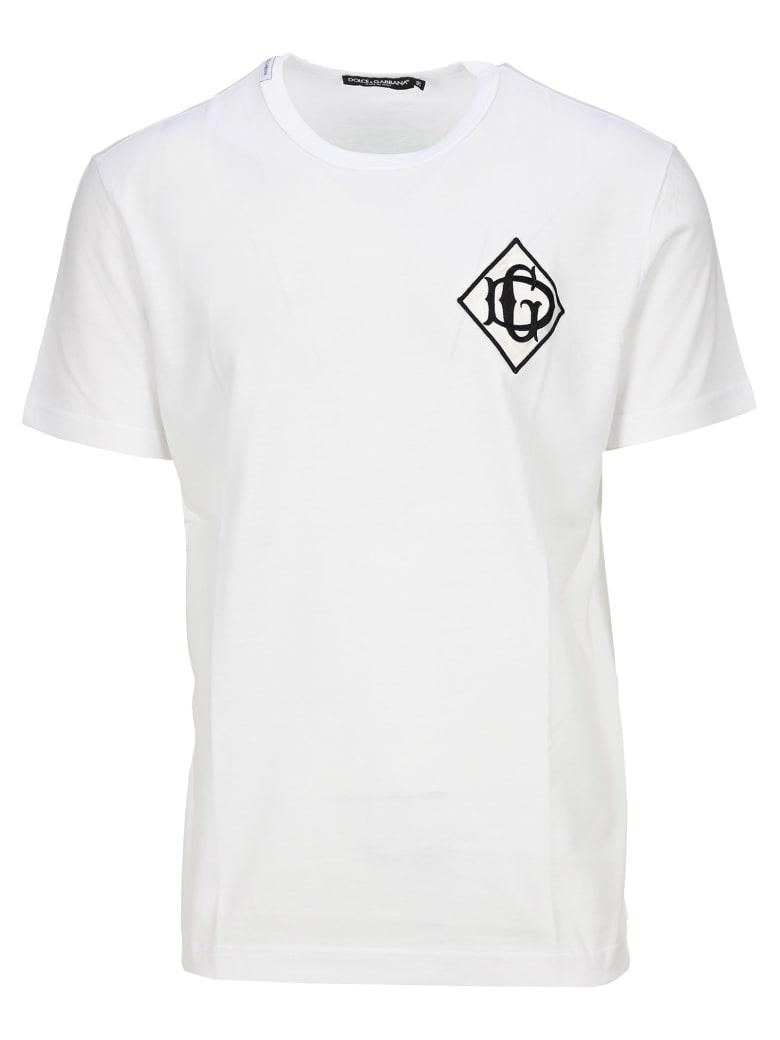 Dolce & Gabbana Dolce&gabbana Logo Apliqué T-shirt - WHITE