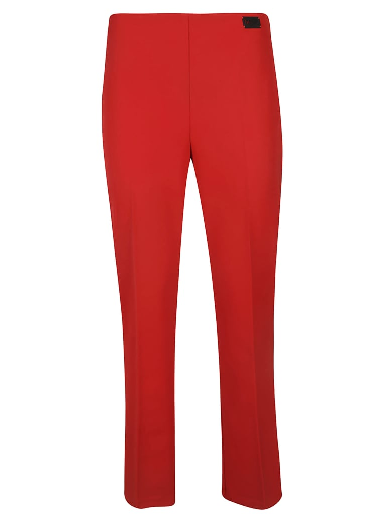 Be Blumarine Flared Trousers - red