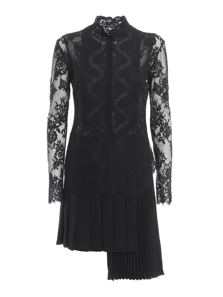 Ermanno Scervino L/s Mini Dress - Black