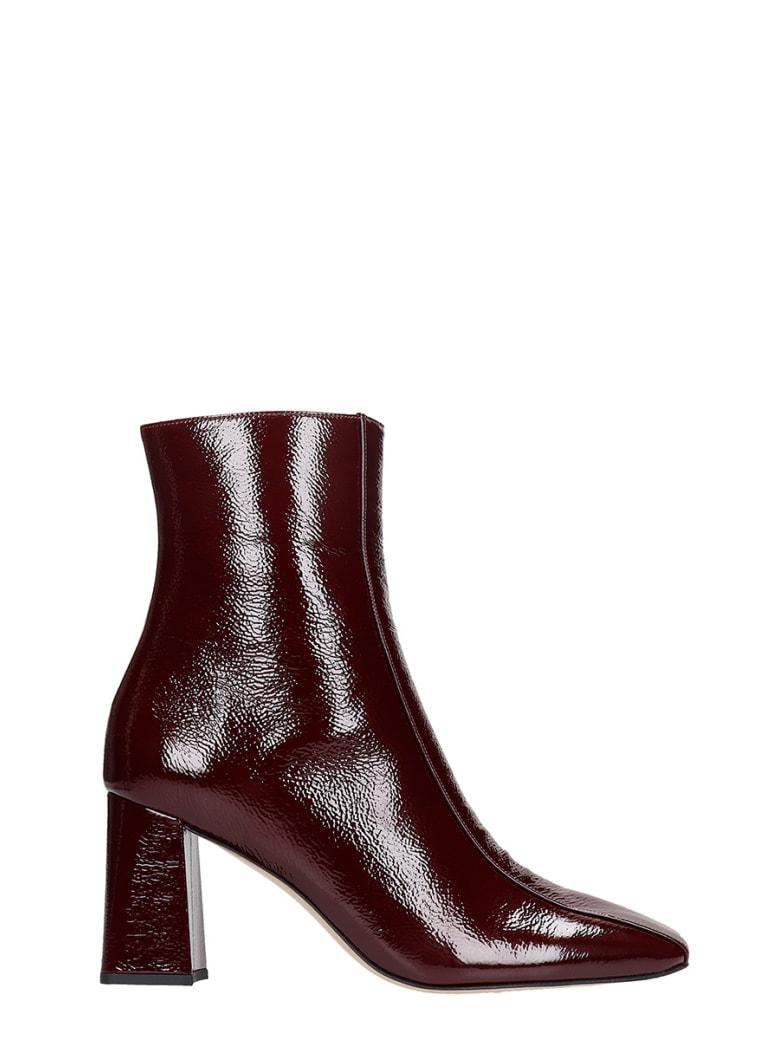 Fabio Rusconi High Heels Ankle Boots In Bordeaux Patent Leather - bordeaux