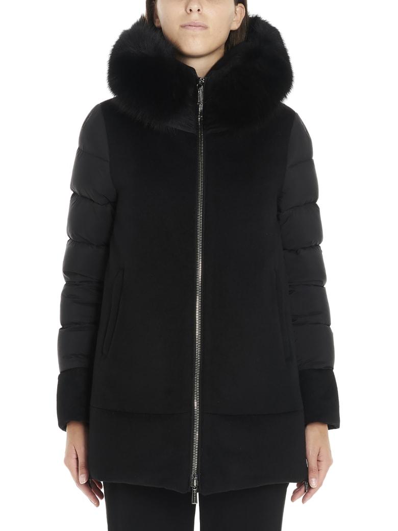Moorer 'fresia' Coat - Black