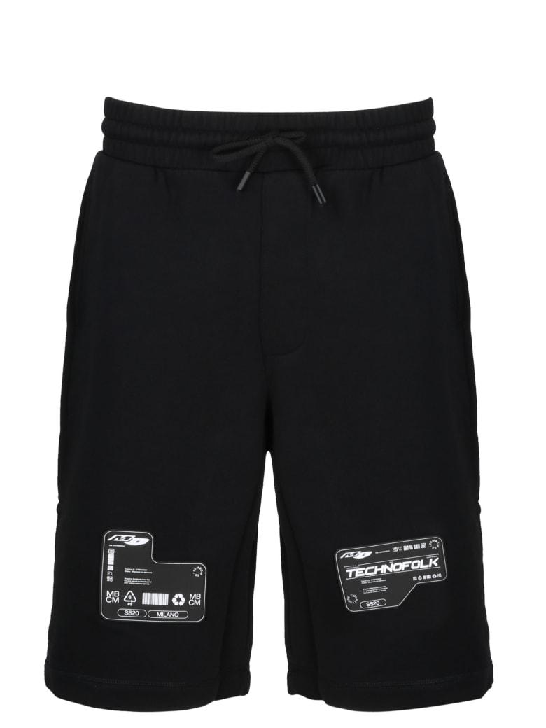 Marcelo Burlon Patch Sweatshorts - Black