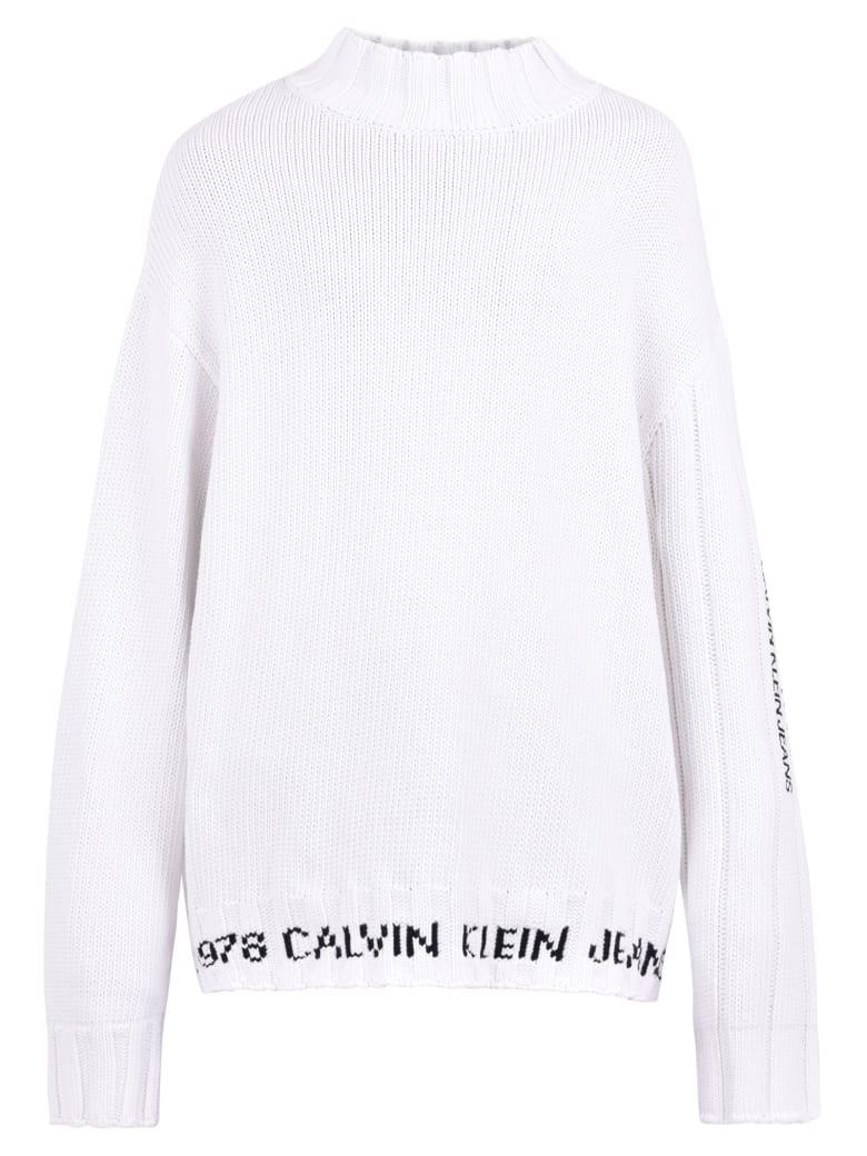 Calvin Klein Jeans Intarsia Sweater - White