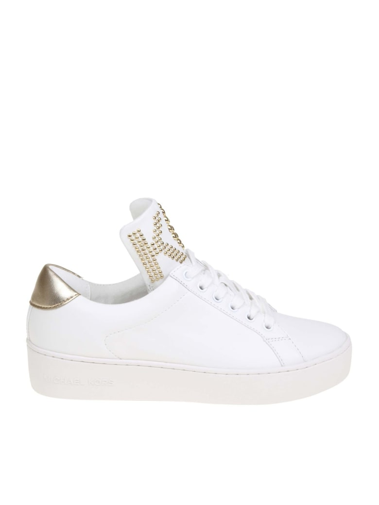 Mindy Sneakers In White Color Leather