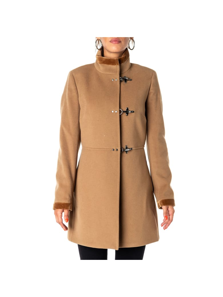 Fay Virgin Wool And Cashmere Blend Coat - SAND