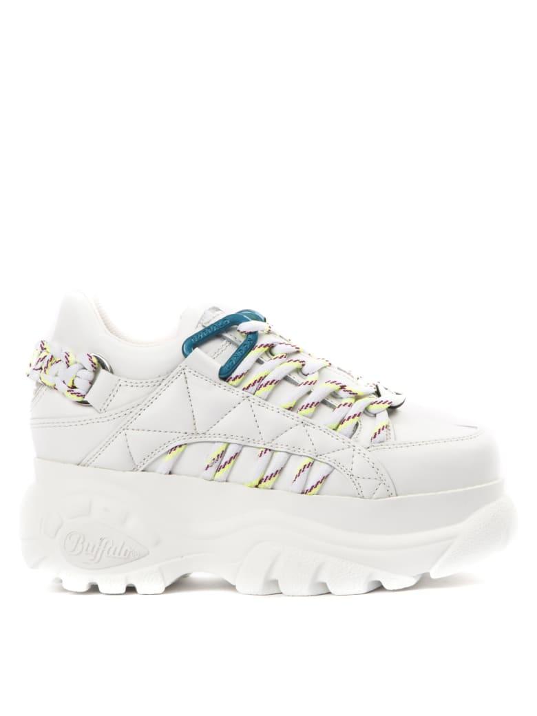 Buffalo White High Leather Sneaker - White