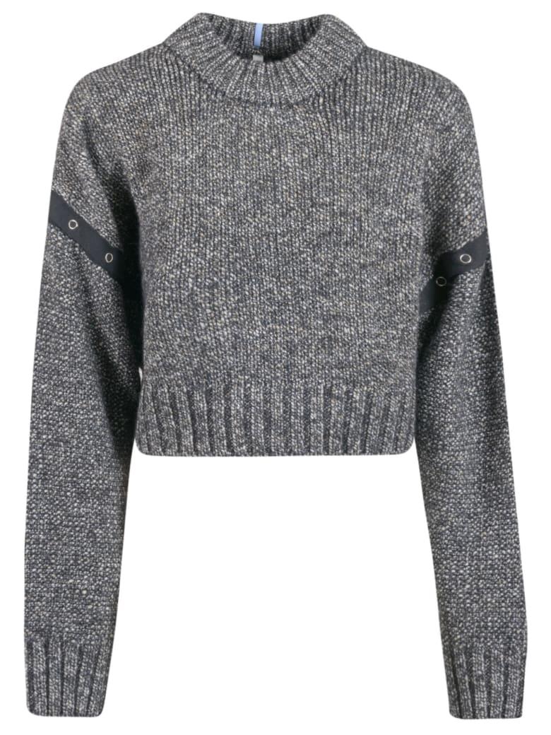 McQ Alexander McQueen Ribbed Knit Cropped Jumper - Darkest Black