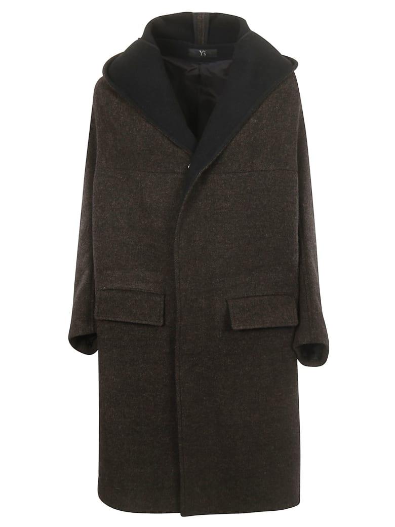 Y's Hooded Coat - Black/brown