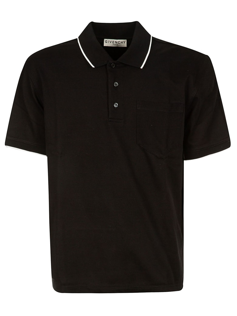 Givenchy Classic Buttoned Polo Shirt - Black