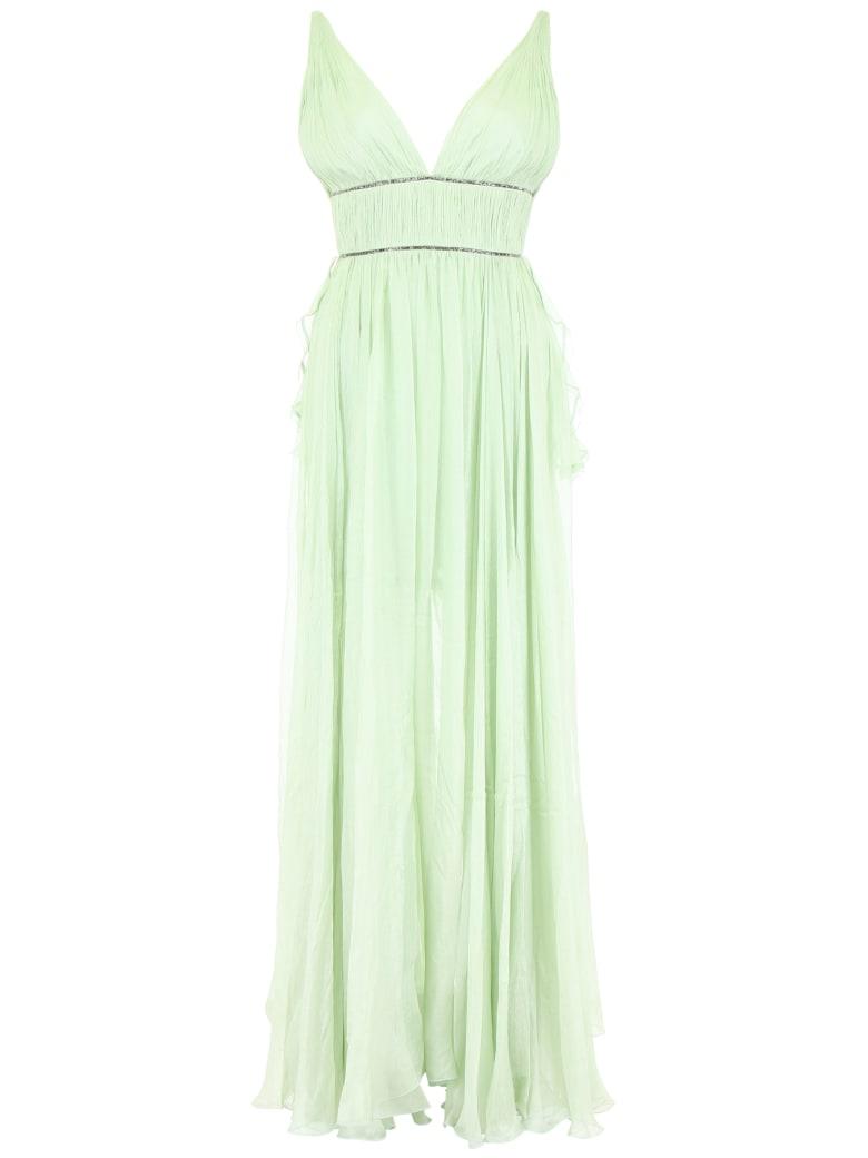 Maria Lucia Hohan Sage Silk And Crystal Dress - GREEN OPAL (Green)