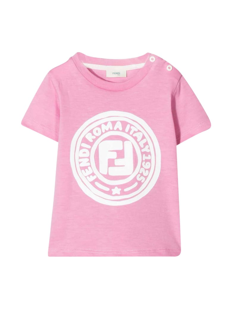 Fendi Pink T-shirt - Rosa/bianco