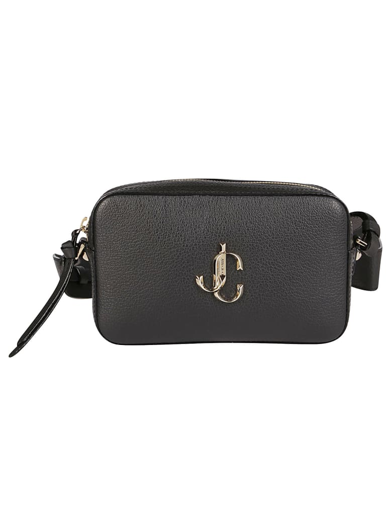 Jimmy Choo Black Leather Varenne Camera Crossbody Bag - Black