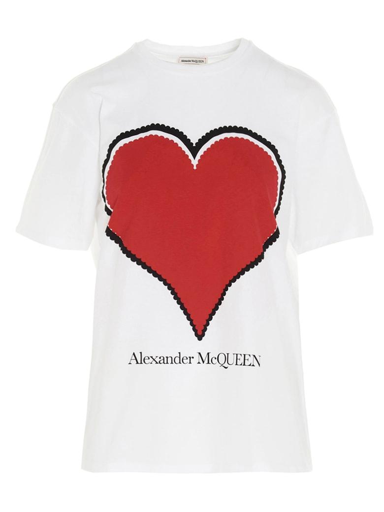 Alexander McQueen Graphic Heart' T-shirt - Bianco