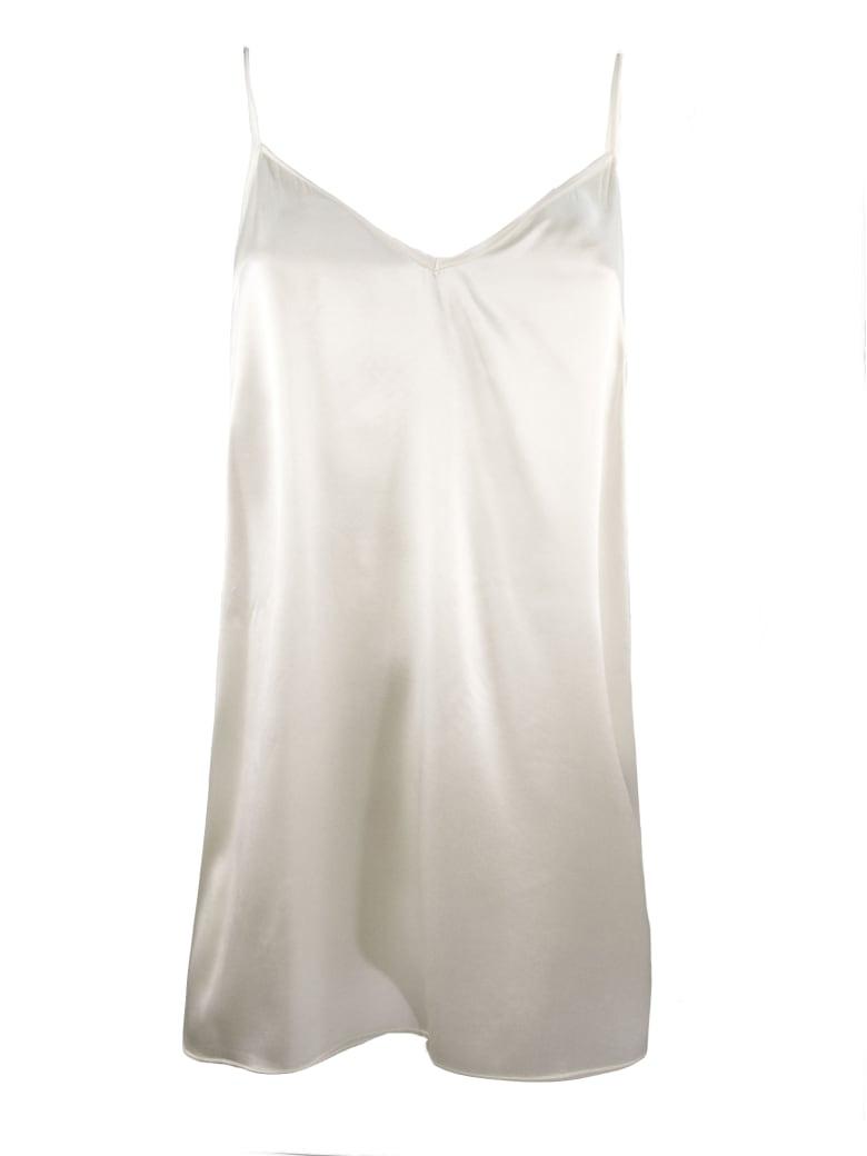 Federica Tosi White Silk Tank - Bianco