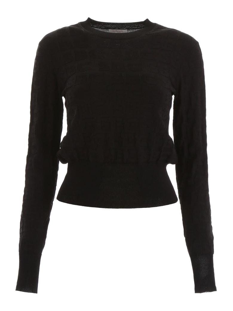 See by Chloé Jacquard Logo Pull - BLACK (Black)