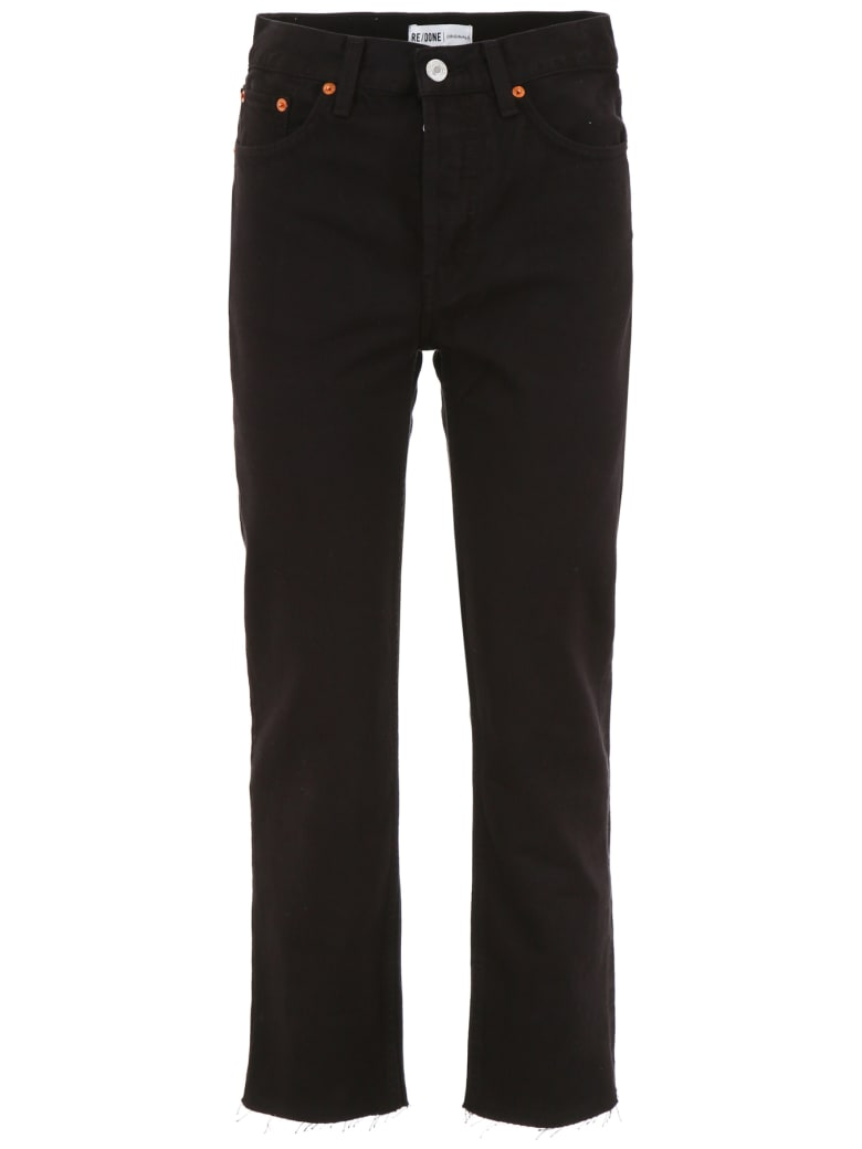RE/DONE High-waisted Jeans - BLACK (Black)