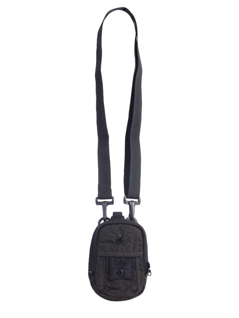 Stone Island Shadow Project Sling Bag With Logo - ANTRACITE