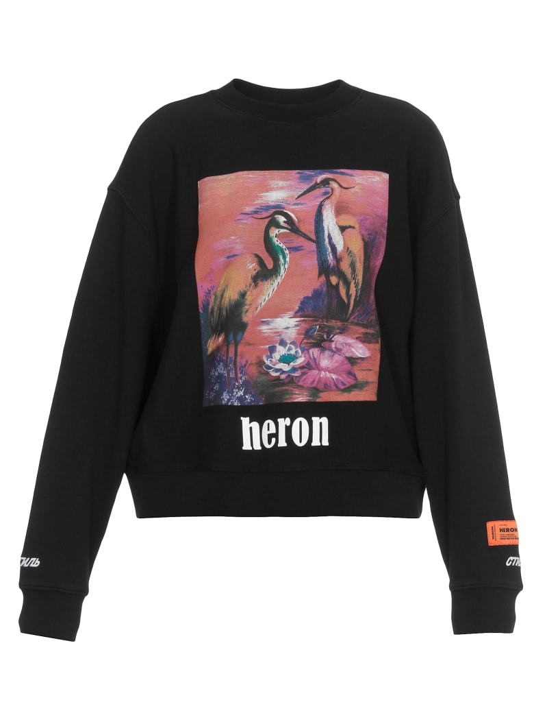 HERON PRESTON Aironi Sweatshirt - BLACK MULTICOLOR
