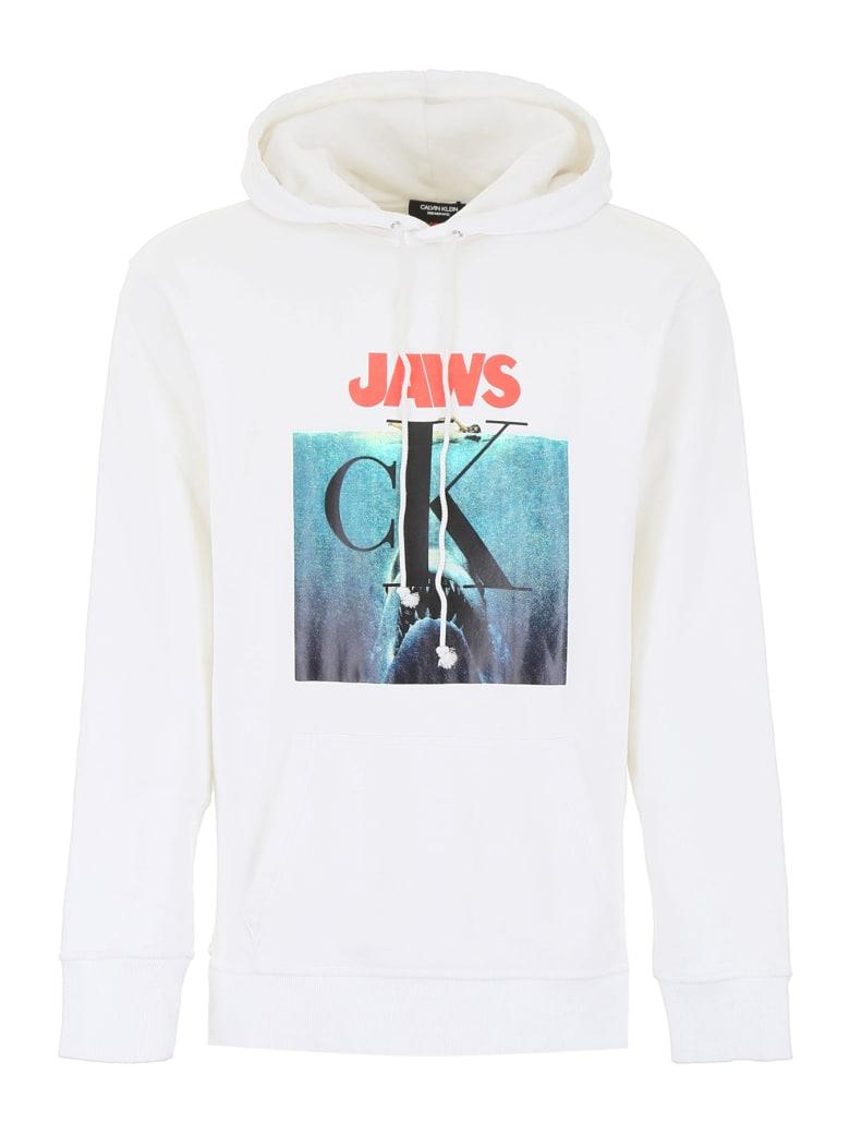 Calvin Klein Jaws Hoodie - WHITE (White)
