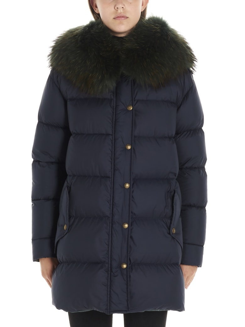 Mr & Mrs Italy 'a-line Puffer' Jacket - Blue