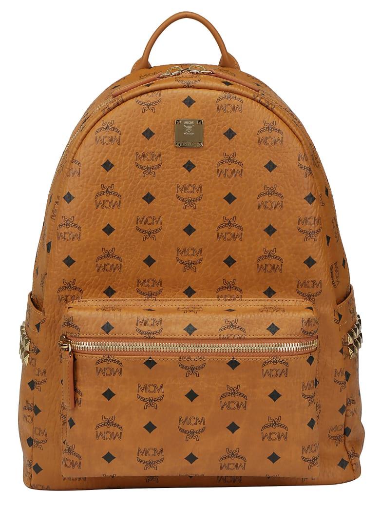 MCM Stark M Backpack - Cognac