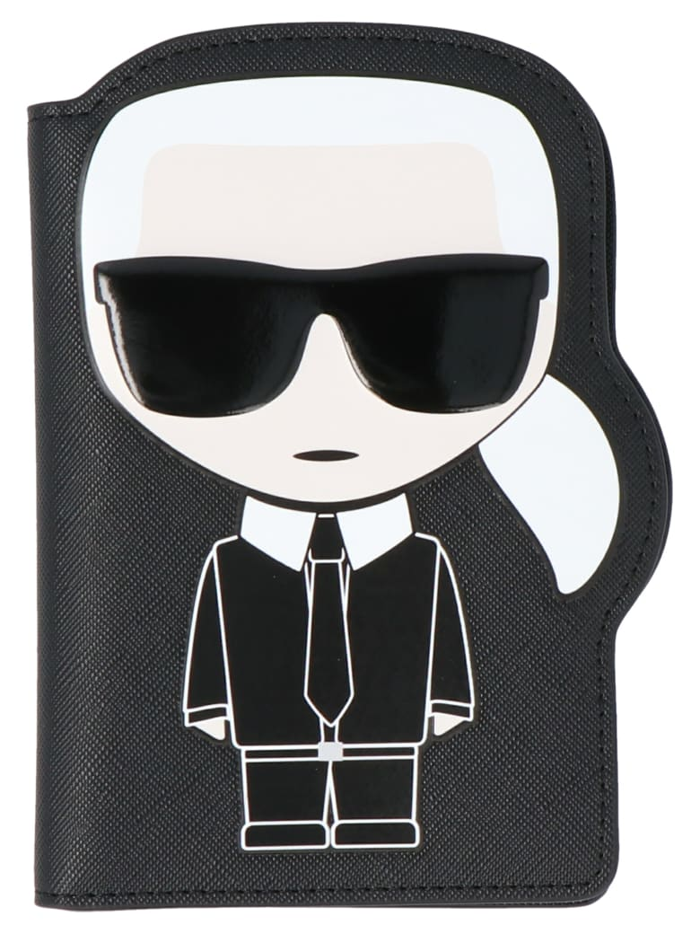 Karl Lagerfeld 'ikonik' Passaport Holder - Black