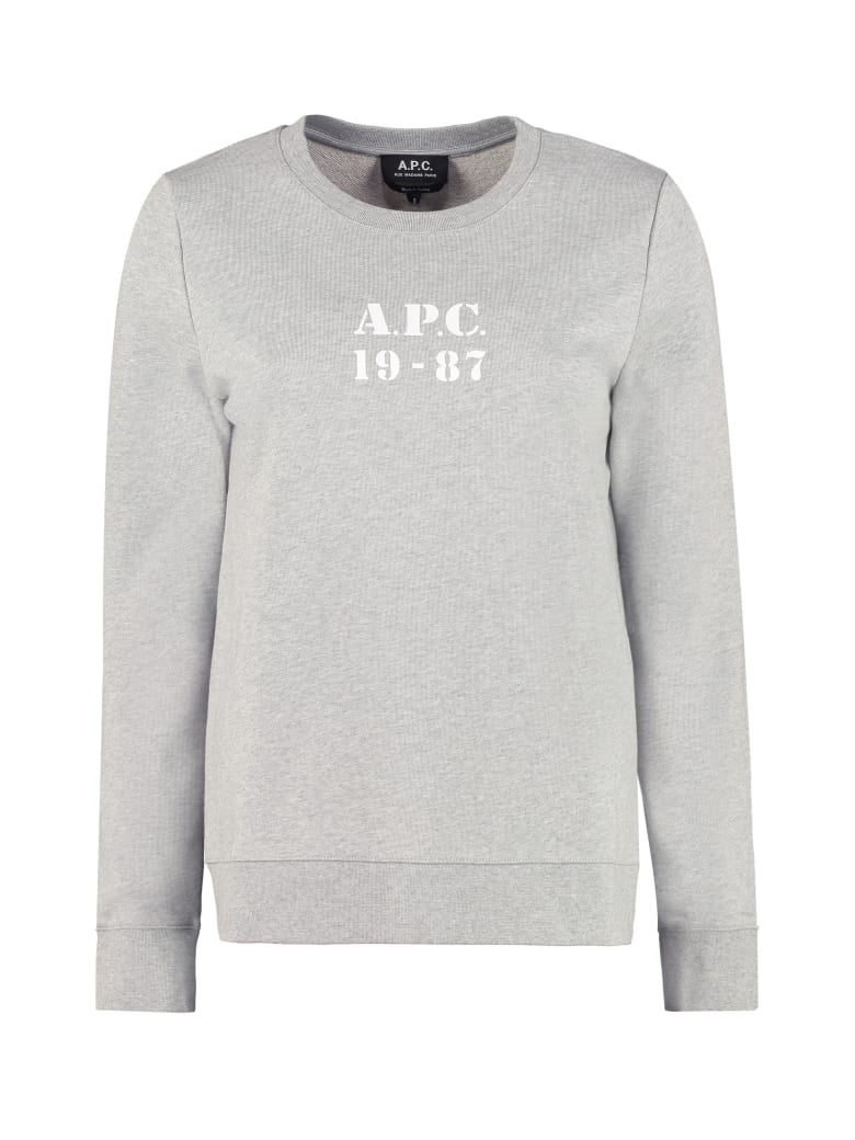 A.P.C. Melissa Cotton Sweatshirt - grey