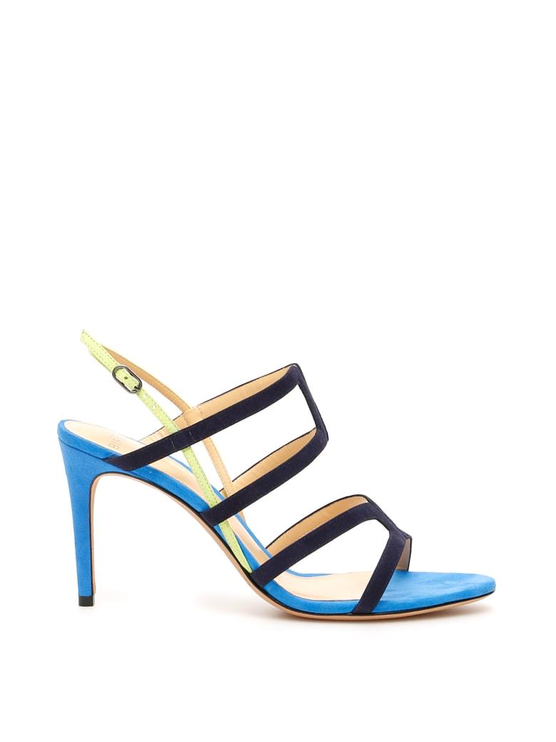 Alexandre Birman Multicolor Mena 85 Sandals - NIGHT BLUE LEMON AZURE (Blue)