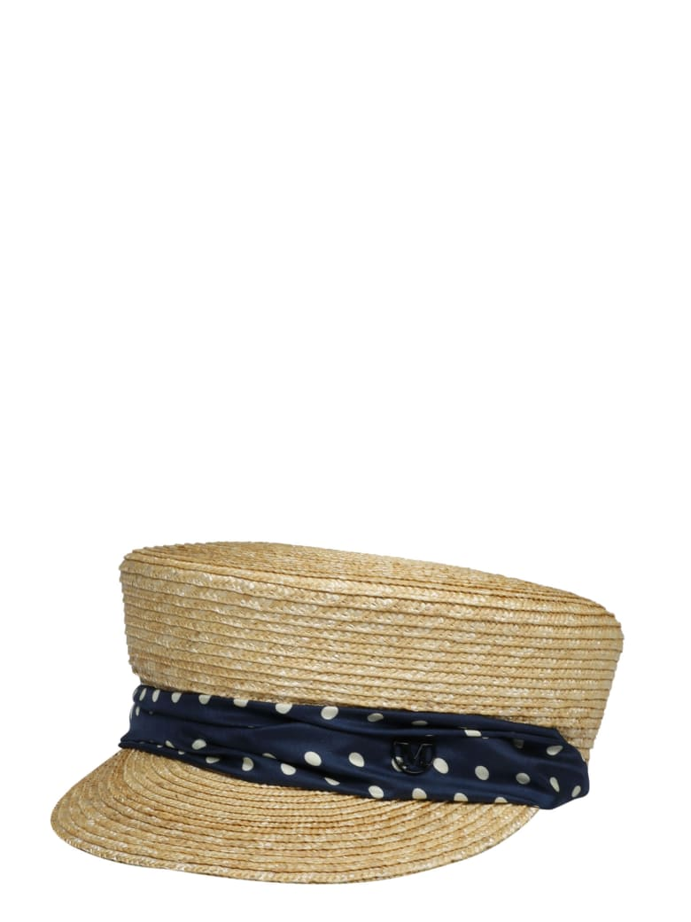 Maison Michel Abby 20ps Polka Hat - Nude & Neutrals