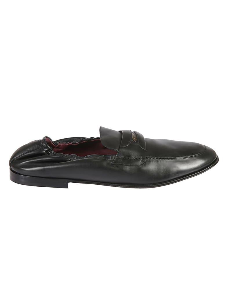Dolce & Gabbana Logo Stamped Loafers - Black