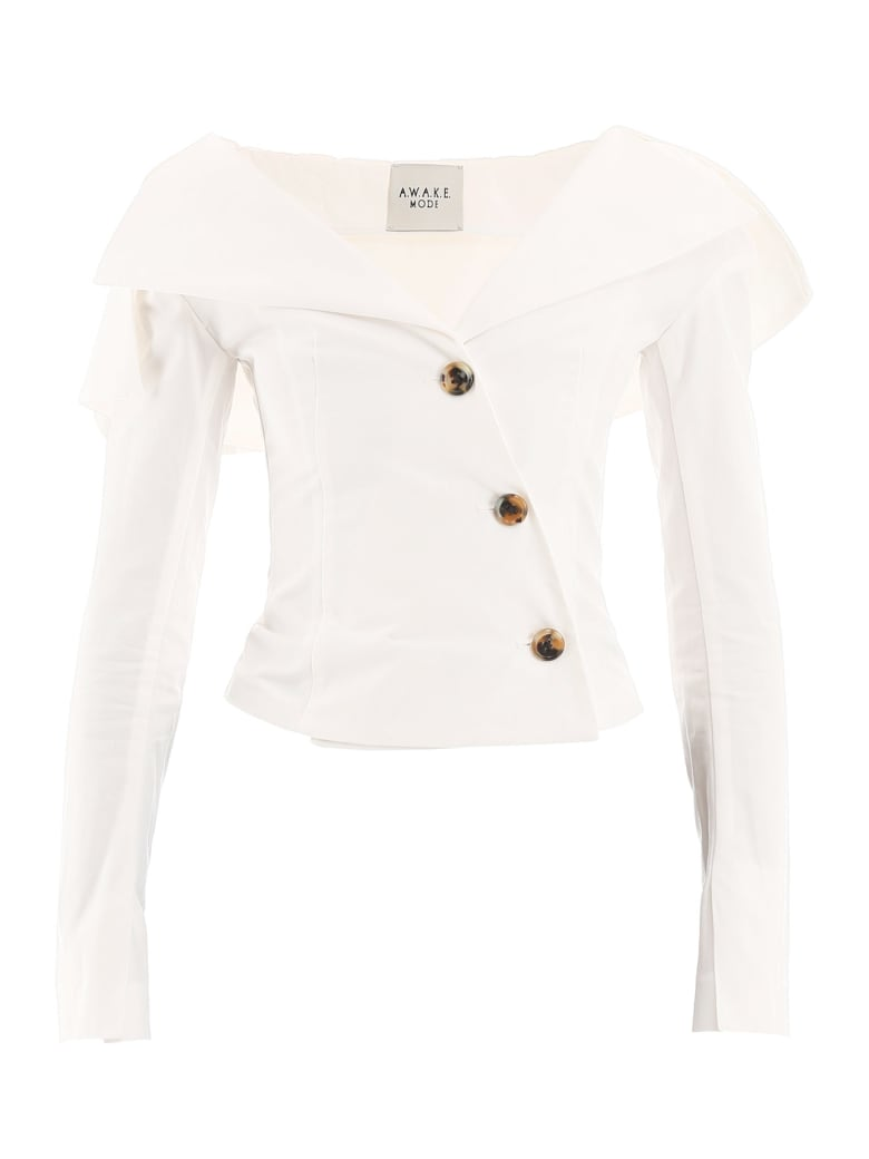 A.W.A.K.E. Mode Buttoned Jacket-top - OFF WHITE (White)